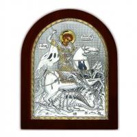 Икона Георгий Победоносец EP2-010XAG/P Silver Axion
