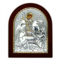 Икона Св. Георгий Победоносец EP3-010XAG/P Silver Axion