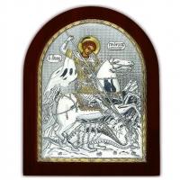 Ікона Святий Георгій Побідоносець EP4-010XAG/P Silver Axion