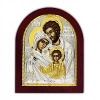 Икона Святое Семейство EP2-015XAG/P Silver Axion