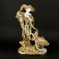 Статуетка жінки з покриттям під золото 10199