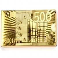 Пластиковые игральные карты золотистые Евро A192