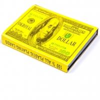 Пластиковые игральные карты 2 колоды Доллары A194
