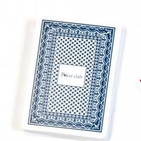 Пластиковые игральные карты Poker Club синяя рубашка A195-1