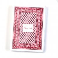 Пластиковые игральные карты Poker club красная рубашка A195-2 Lucky Gamer