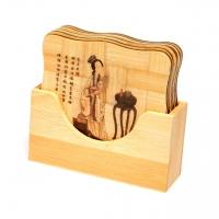 Бамбуковые подставки  для чашек набор 6шт. 1