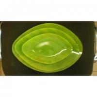 Набір тарілок TR007 3 предмета скло