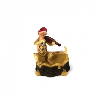 Сувенир пепельница ящерица музыкант (4 вида) 2420