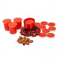 Большой набор свечей  красный 12 шт SBB-9-3 Decos