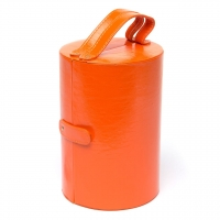Шкатулка для украшений из эко кожи оранжевая J649-1