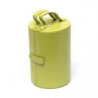 Шкатулка для украшений из эко кожи салатовая J649-2