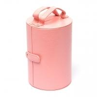 Шкатулка для украшений из эко кожи розовая J649-3