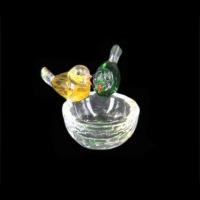 Сувенир стекло 002 пепельница птички