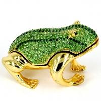 Шкатулка статуетка жаба 01035