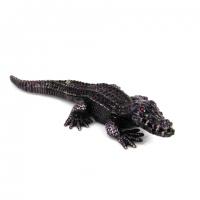 Шкатулка зі стразами у вигляді статуетки крокодила 10118