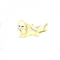 Шкатулка со стразами в виде статуэтки белой кошки 10711A
