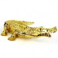 Шкатулка со стразами статуэтка крокодил 1245