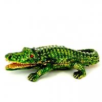 Шкатулка со стразами статуэтка крокодил QF004