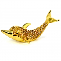 Шкатулка со стразами статуэтка дельфин QF1759
