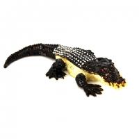 Шкатулка со стразами статуэтка крокодил QF1954