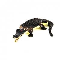 Шкатулка со стразами в виде статуэтки крокодила QF817