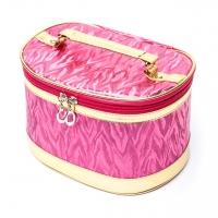 Красивые косметички оригинальные комплект 3 шт розовые №2