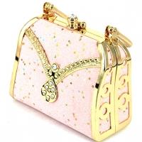Театральна сумочка клатч рожева 07