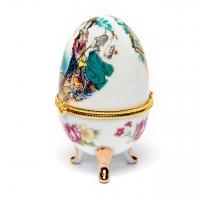 Шкатулка из фарфора в форме яйца 3-2