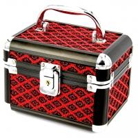 Шкатулка для украшений средняя черно-красный ромб 8139-2