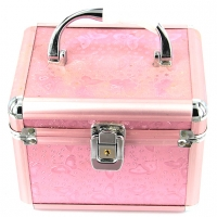 Шкатулка для украшений и косметики большая бабочки розовая 8151-3