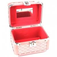 Шкатулка для украшений и косметики большая розовый ромб 8152-3