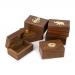 Деревянные шкатулки ручной работы набор 6 штук WB106 Albero Ode