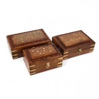 Різьблені дерев'яні шкатулки комплект 3 штуки WD.264