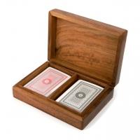 Сувенирные игральные карты в деревянной коробке WB111