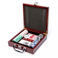 Набор для игры в покер на 100 фишек с номиналом W-1 Lucky Gamer