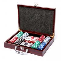 Покерний набір на 200 фішок в кейсі W-2