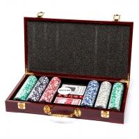 Покерний набір на 300 фішок W-3-1