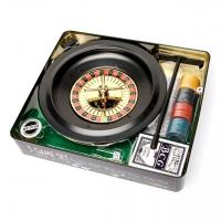 Настольная игра рулетка и покер RS1060T в жестяной коробке