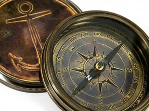Морской компас в античном стиле - фото darunok.ua