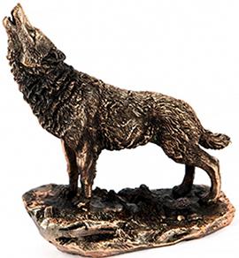 Статуэтка волка подарочная - фото darunok.ua