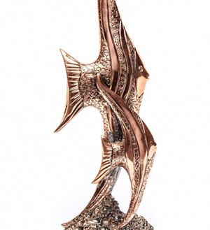 Подарочная статуэтка рыб - фото darunok.ua