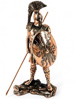 Подарочная статуэтка Classic Art - воин с копьем и щитом - фото интернет магазина darunok.ua
