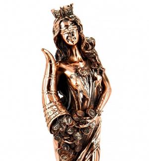 Подарункова статуетка Фортуни з Рогом Достатку - фото інтернет магазину darunok.ua
