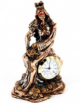 Фігурка Богині Удачи з годинником - фото інтернет магазину darunok.ua