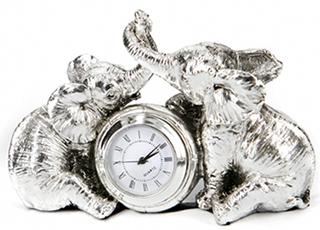 Фігурка з полістоуна з годинником - статуетка Argenti - фото darunok.ua
