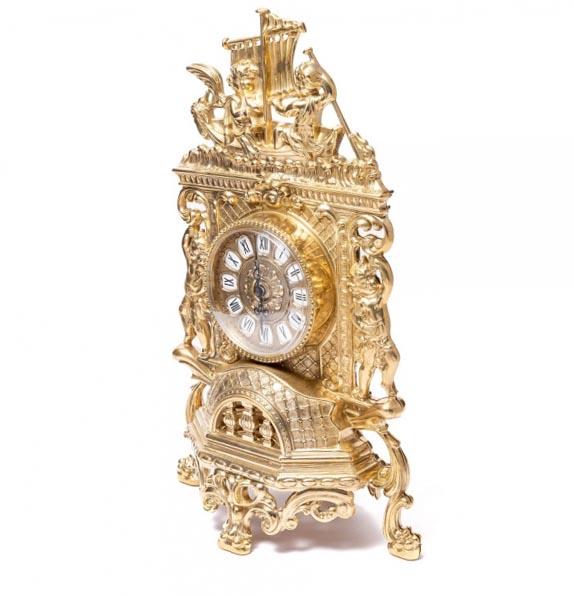 Каминные часы впечатляющий сувенир жене на юбилей - фото интернет-магазина darunok.ua