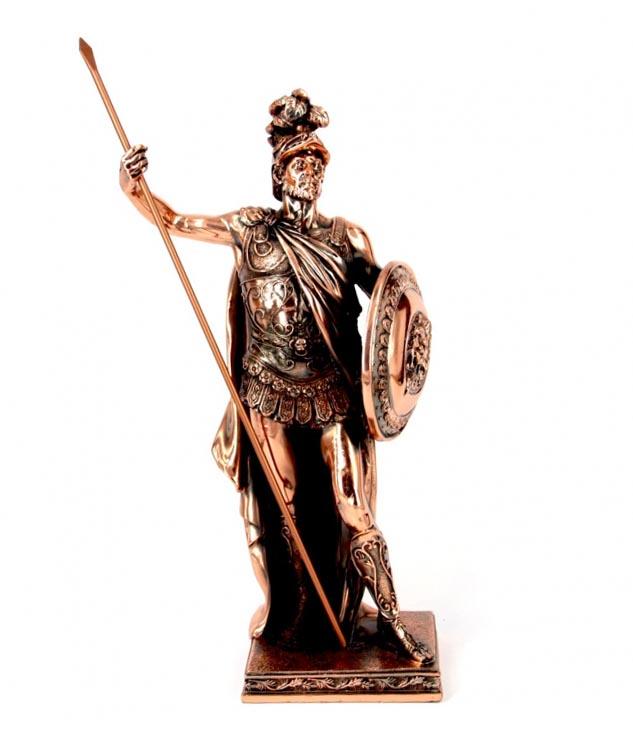 Статуэтка греческий воин с копьем - отличный сувенир любимому на Новый год  - фото интернет-магазина darunok.ua