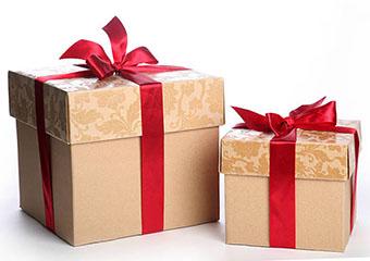 Вариант упаковки подарков на 35 лет свадьбы - фото darunok.ua