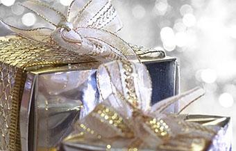 Сверкающая упаковка в честь бриллиантовой свадьбы 60 лет - фото darunok.ua