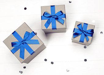 Вариант оформления подарков Близнецам - фото darunok.ua